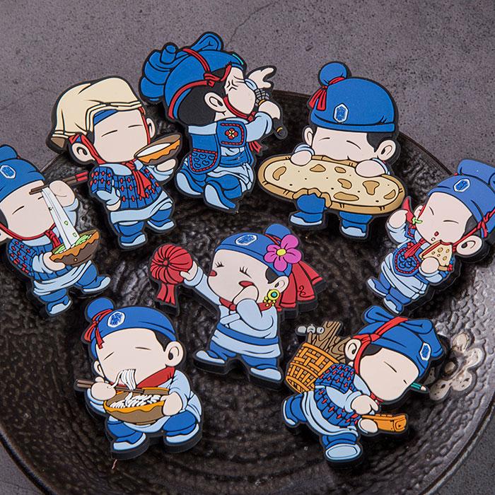 陕西西安旅游纪念品礼物秦亲宝贝卡通兵马俑八大怪冰箱贴吸铁石